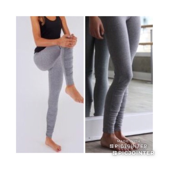 93cf6baaa4 lululemon athletica Other - Ivivva Girls Lululemon Gray Ruched Leggings Sz  12